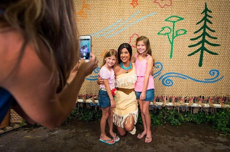 Pocahontas no Parque Epcot na Disney Orlando