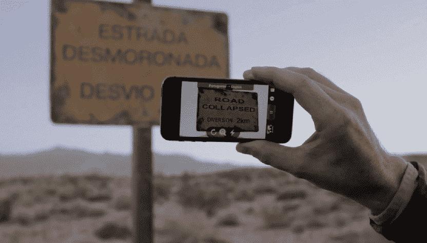 App Polyglocam ou Word Lens em Orlando
