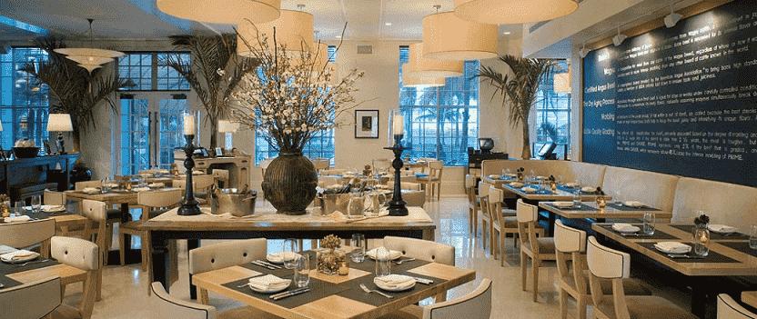 Restaurante BLT Steak House na Ocean Drive em Miami