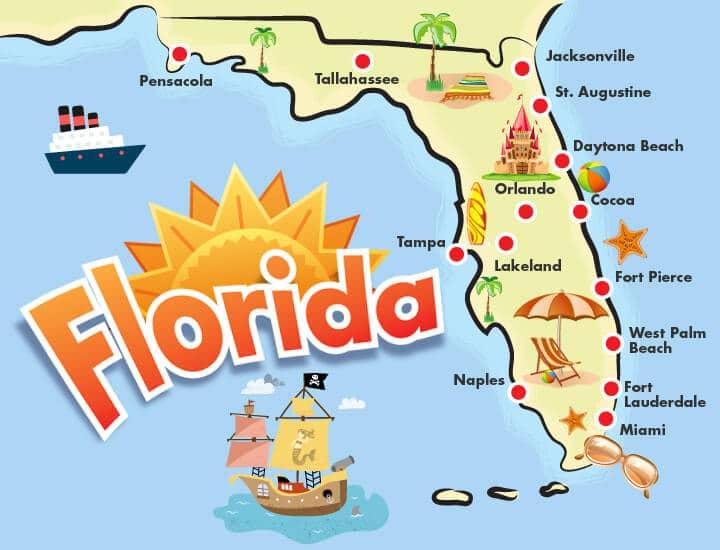 'Mapa Flórida