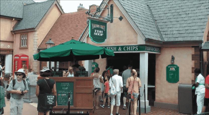 Restaurante Yorkshire County Fish Shop na Disney em Orlando
