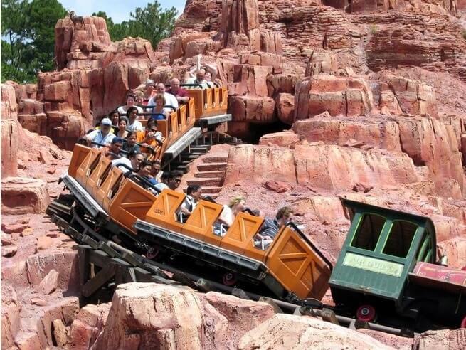 Big Thunder Mountain Railroad no Magic Kingdom em Orlando