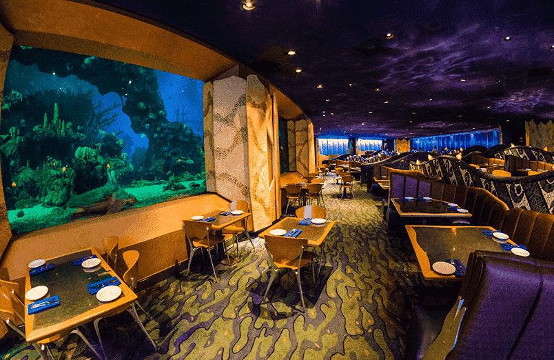 Restaurante Coral Reef no Epcot na Disney em Orlando