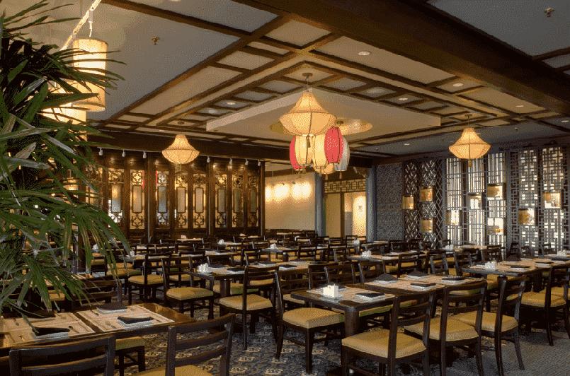 Restaurante Nine Dragons no Epcot na Disney em Orlando