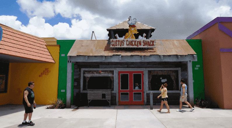 Restaurantes no Springfield Dining no Universal Studios em Orlando