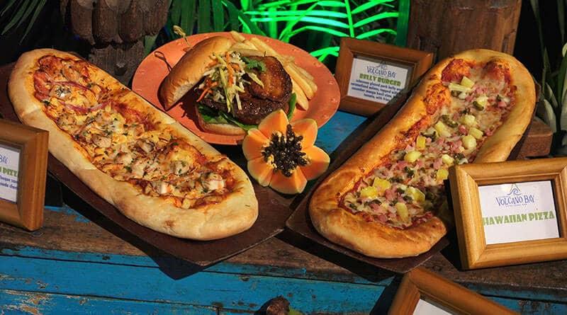 Pizza do Parque Volcano Bay em Orlando