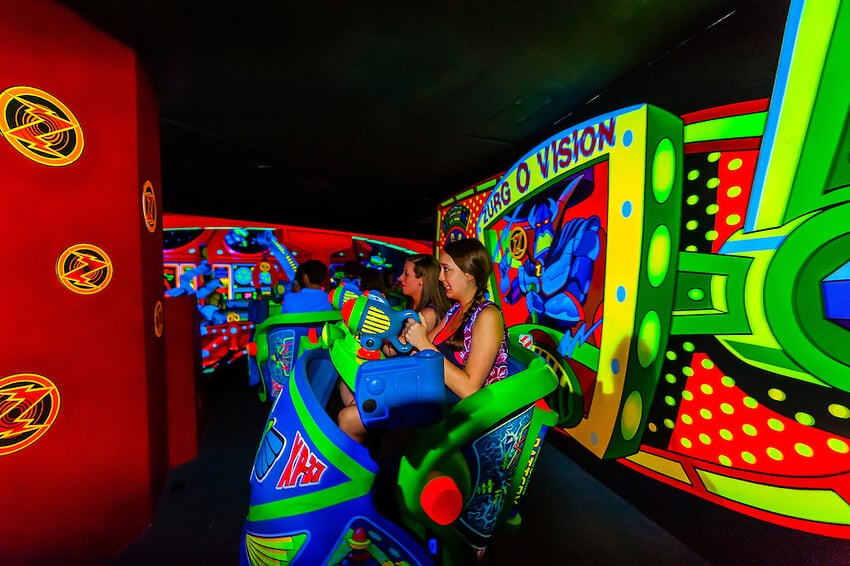 Buzz Lightyear no Magic Kingdom em Orlando