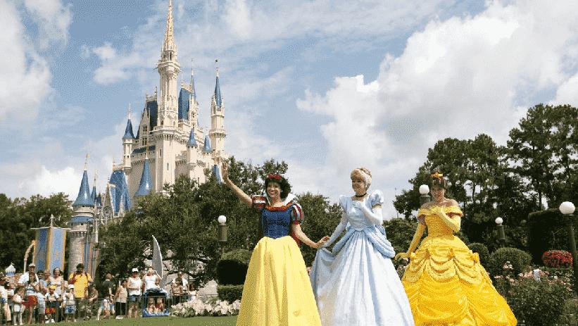 Princesas no Magic Kingdom em Orlando