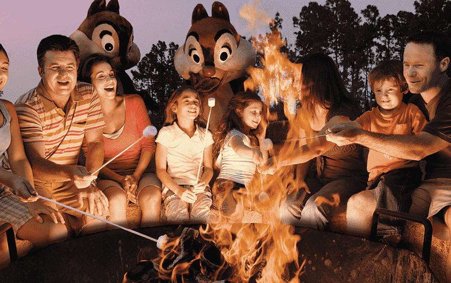 Chips and Dale Campfire na Disney em Orlando