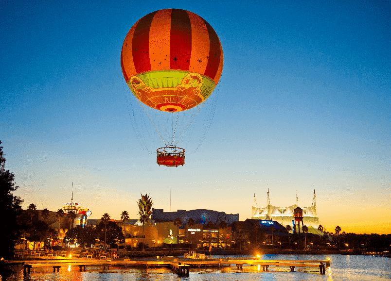 Passeio de balão na Disney em Orlando