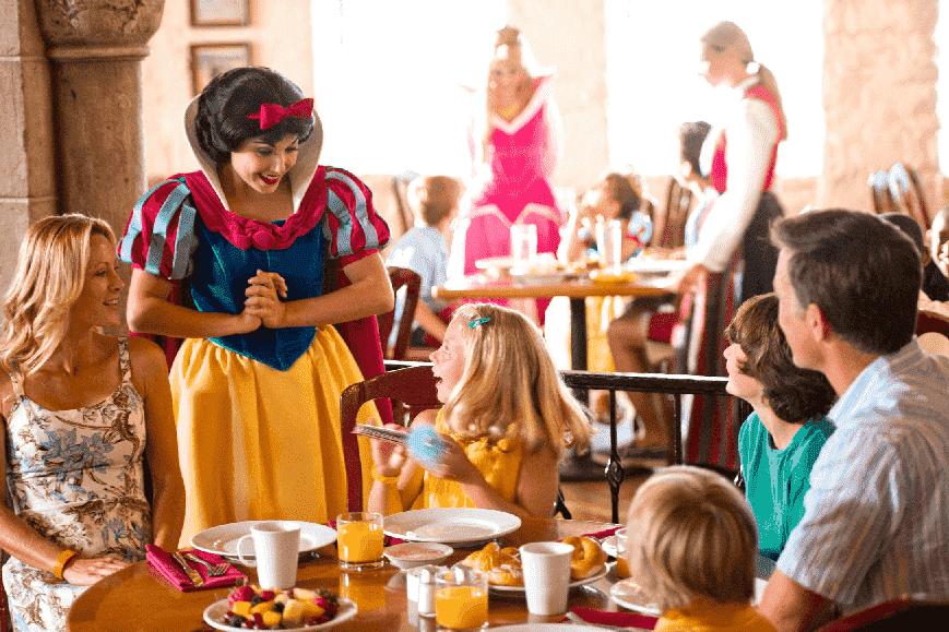 Restaurantes com personagens na Disney em Orlando