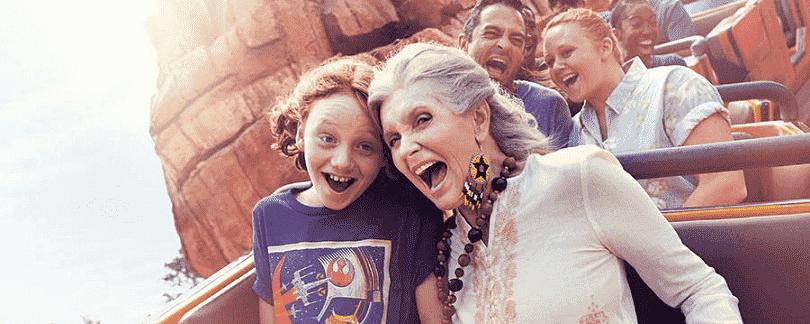 A melhor idade 60+ com crianças na Disney