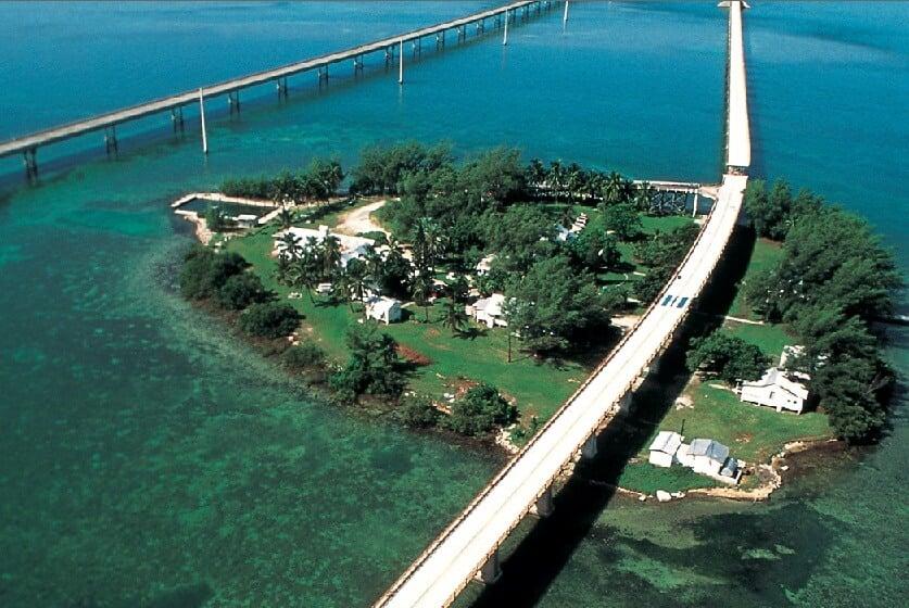 Pigeon Key nas Florida Keys em Miami