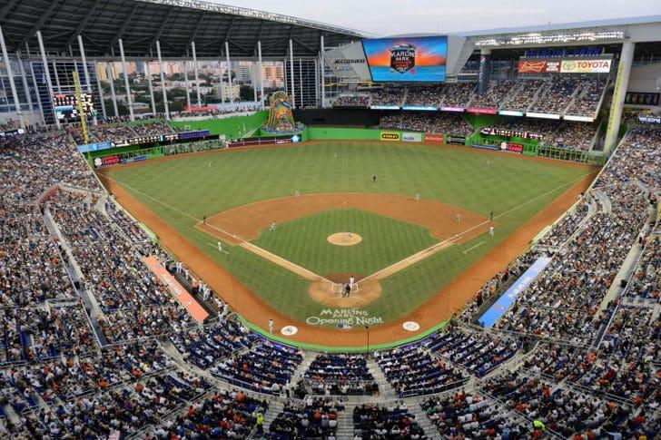 Arena para jogos de beisebol em Miami