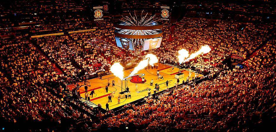 Arena do Jogo do Miami Heat e NBA