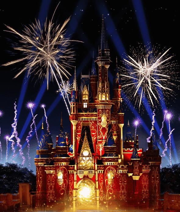 Antigo show de fogos Wishes da Disney em Orlando