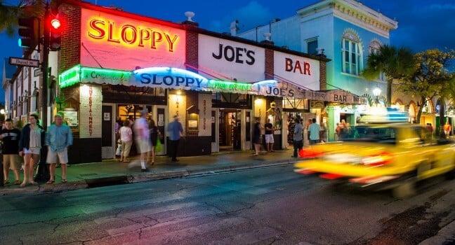 Bar Sloopy Joes em Key West
