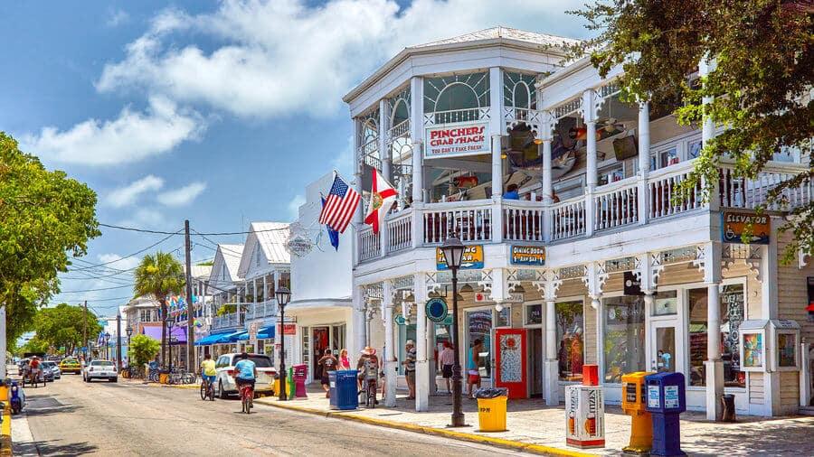 Compras na Duval Street em Key West