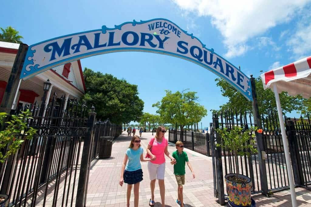 Compras na Mallory Square em Key West