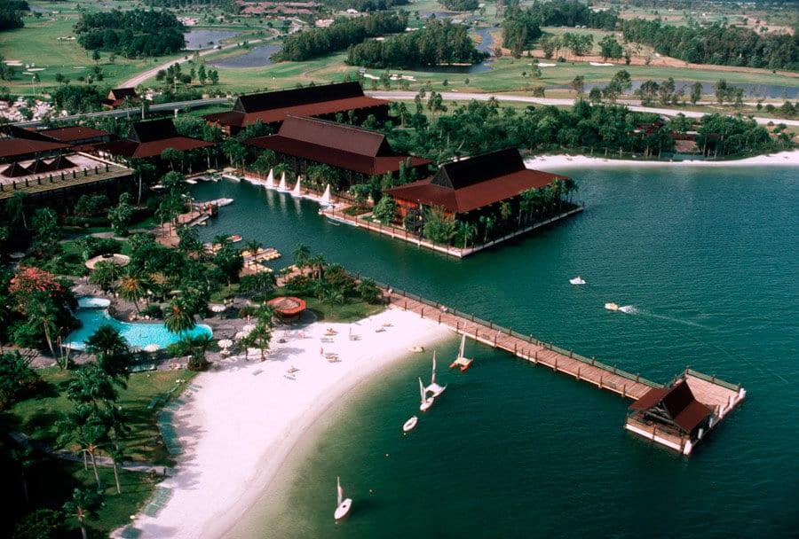 Disney's Polynesian Resort em Orlando: vista aérea