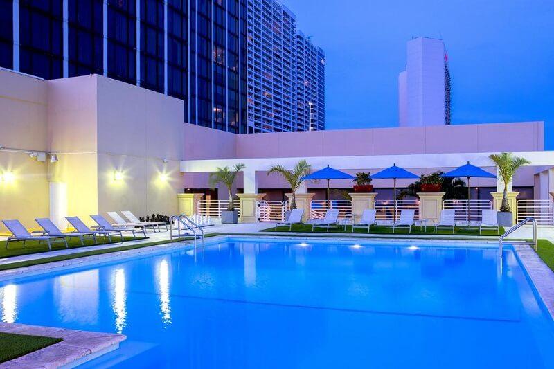 Piscina do Hilton Miami Downtown