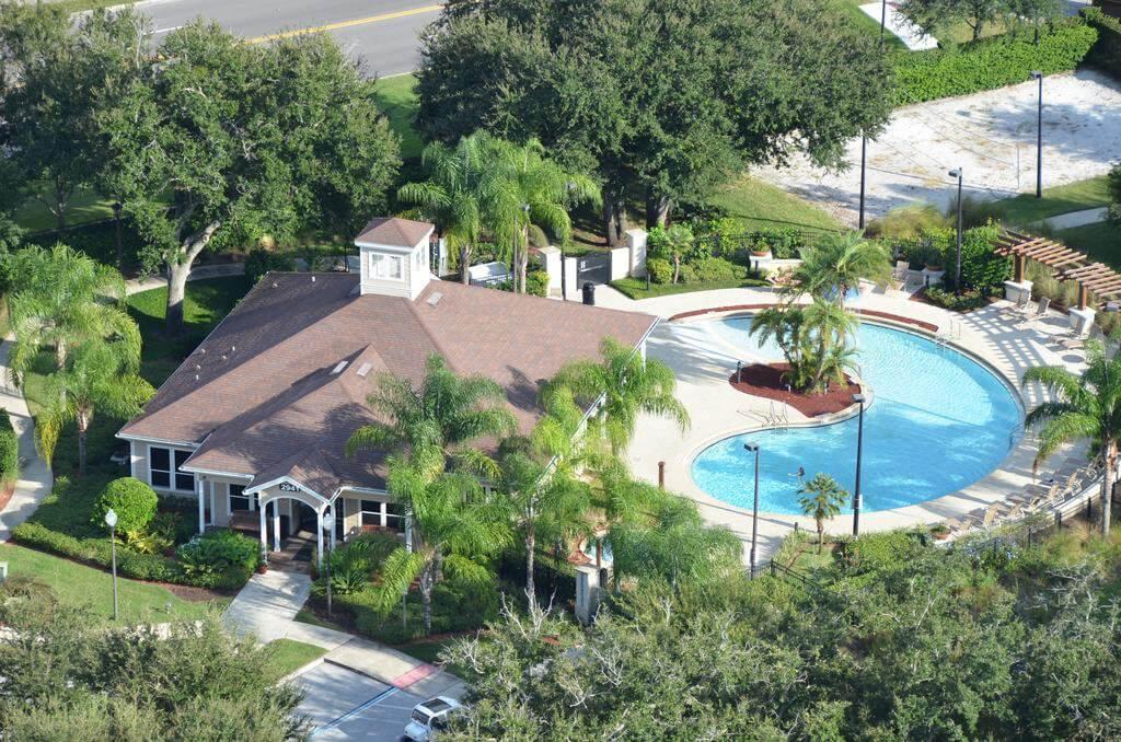 Vista superior do Condomínio de casas Lucaya Village Resort em Orlando