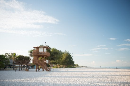 Praia de Anna Maria Island na Flórida