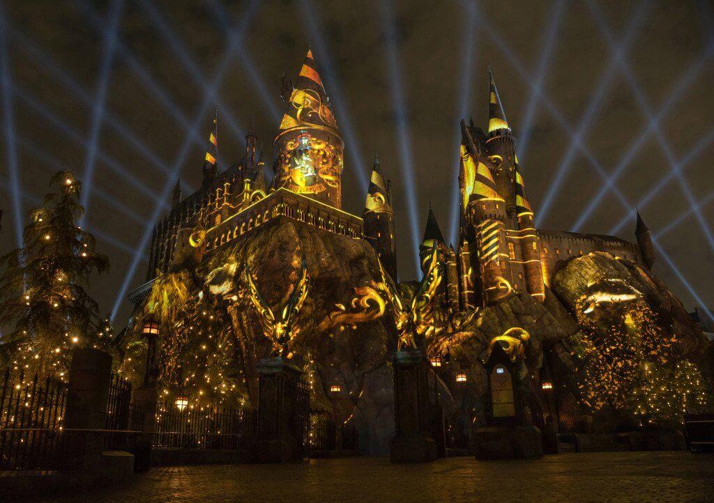 Projeções no show noturno de Harry Potter