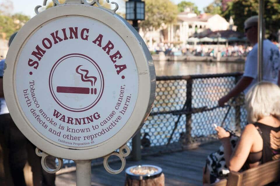 Áreas para fumantes