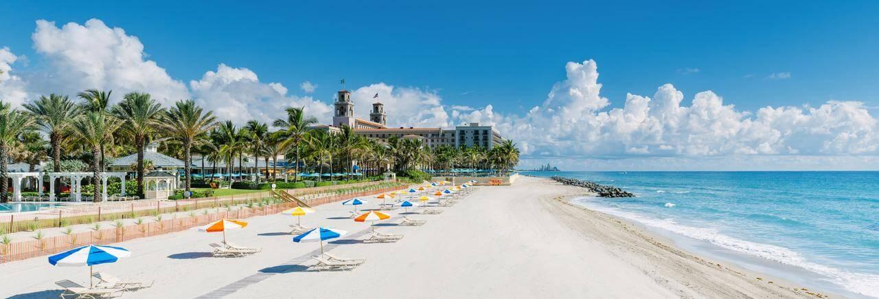 Praia em Palm Beach
