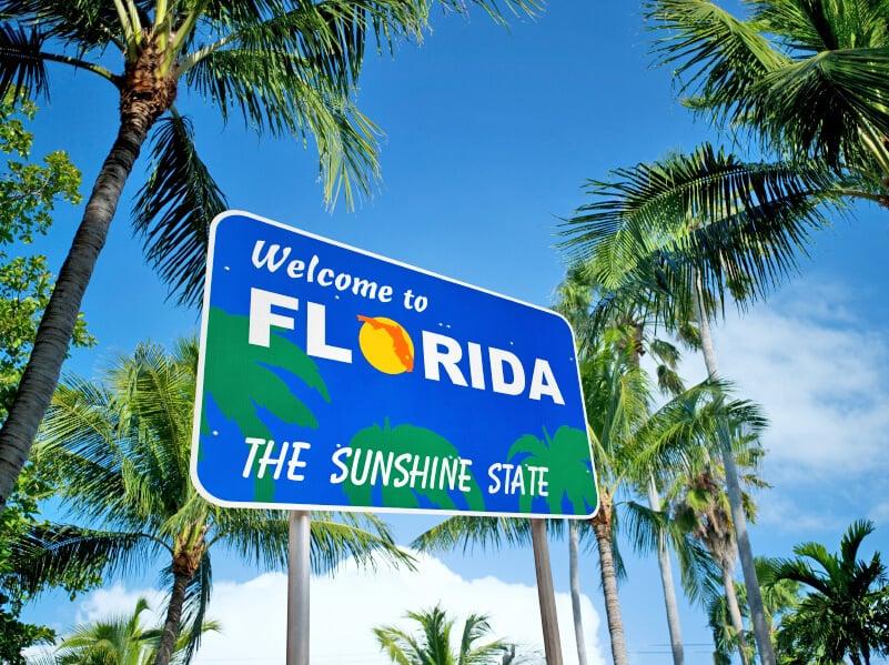 Entrada do estado da Flórida