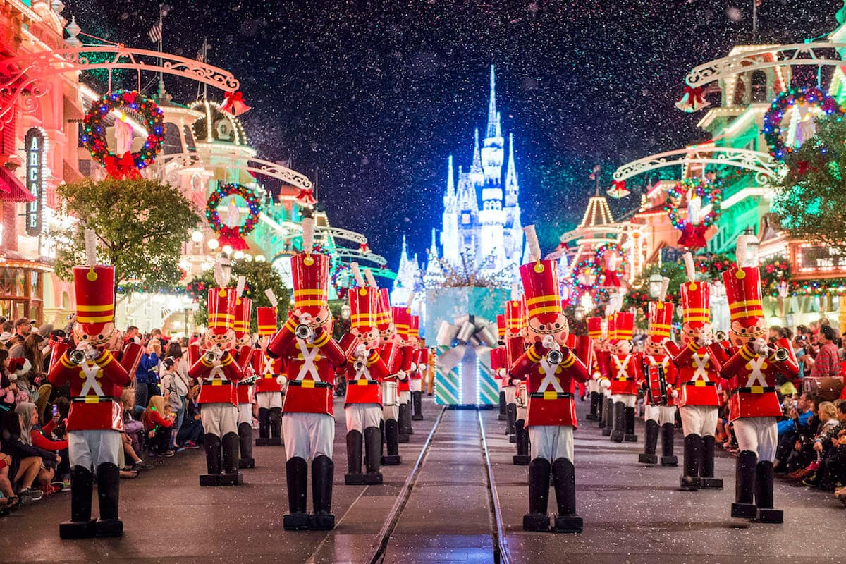 Natal nos Parques da Disney Orlando em Dezembro