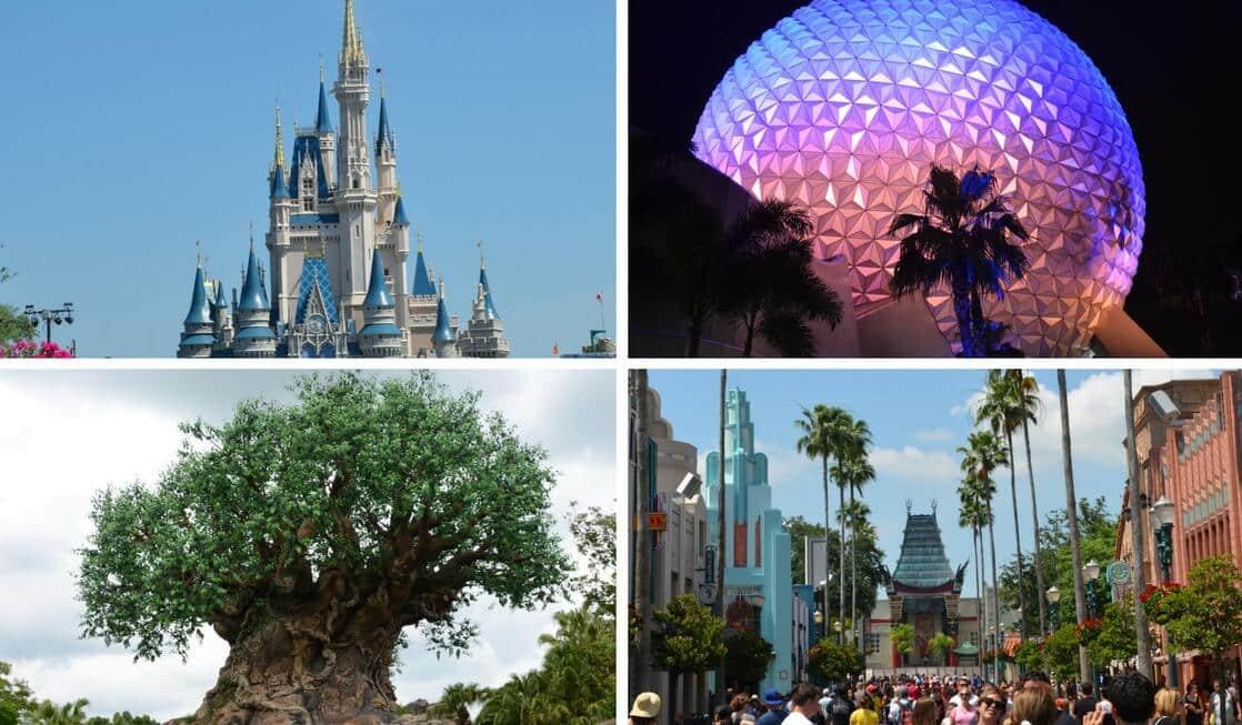 Os quatro parques temáticos da Disney