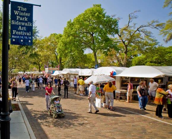 7 festivais e eventos legais em Orlando: Winter Park Sidewalk Arts Festival em Orlando