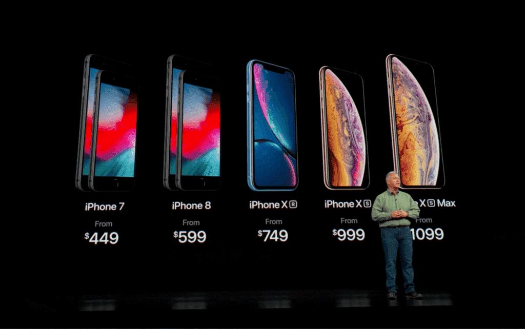 Preço do iPhone XS, XS Max e XR em Orlando