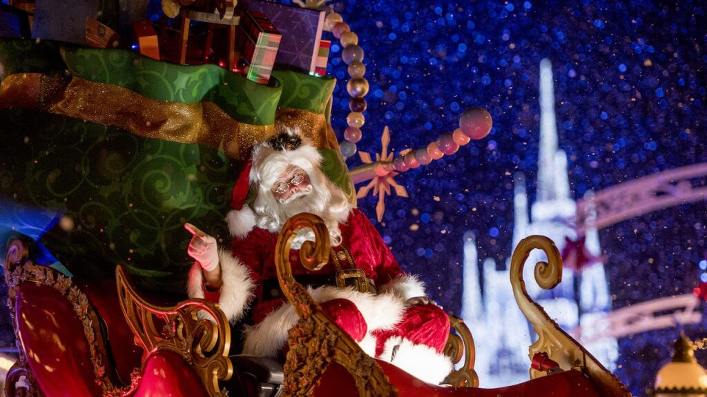 Papai Noel no parque Disney Magic Kingdom