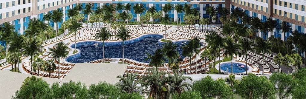 Piscina do Universal's Endless Summer Resort em Orlando
