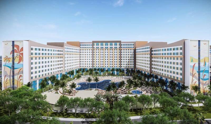 Frente do novo Universal's Endless Summer Resort em Orlando