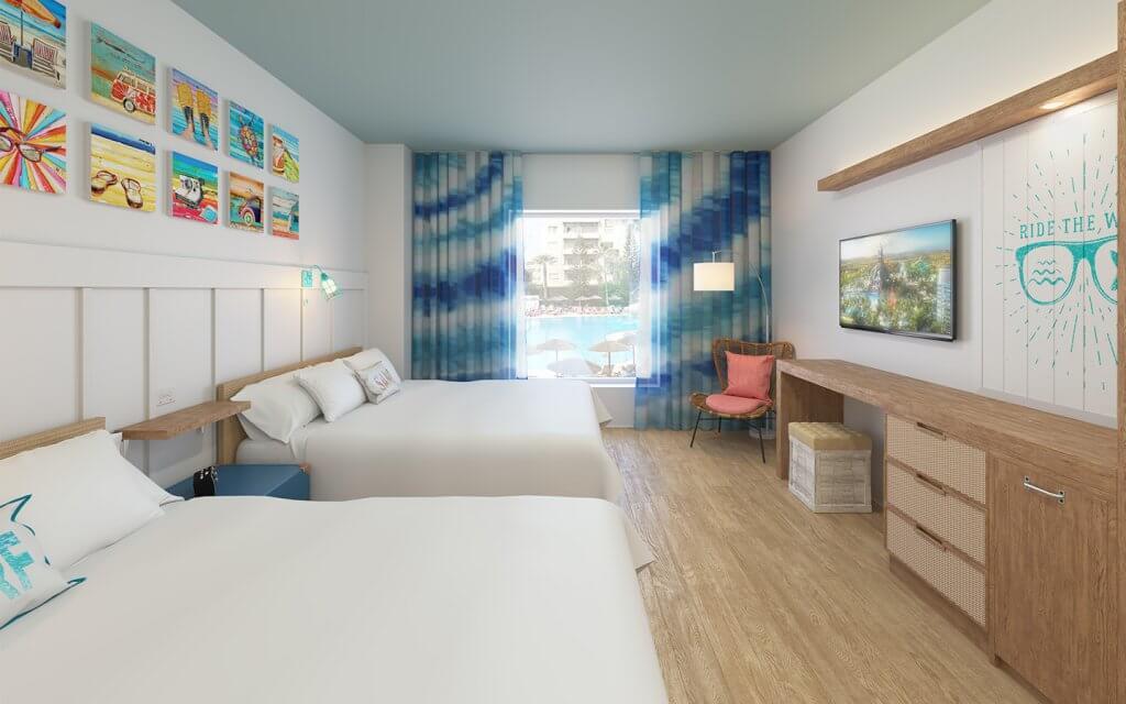 Quartos do Universal's Endless Summer Resort em Orlando
