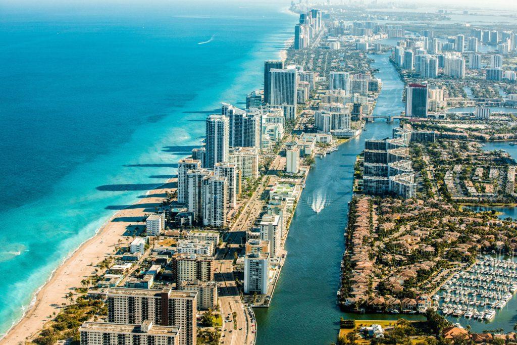 Vista aérea de Fort Lauderdale