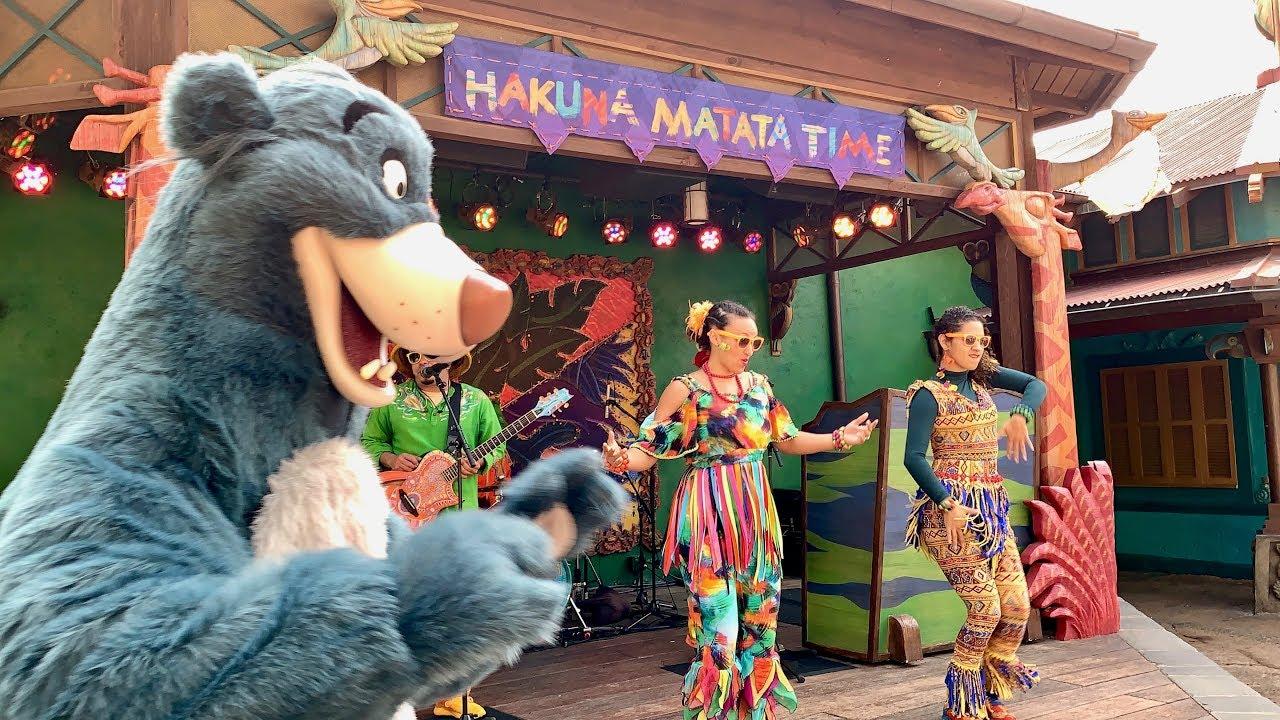 Hakuna Matata Time Dance Party no Disney Animal Kingdom