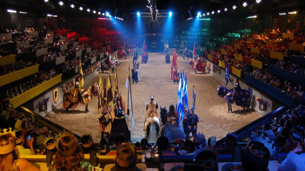 Jantar Medieval Times com duelo de cavaleiros em Orlando