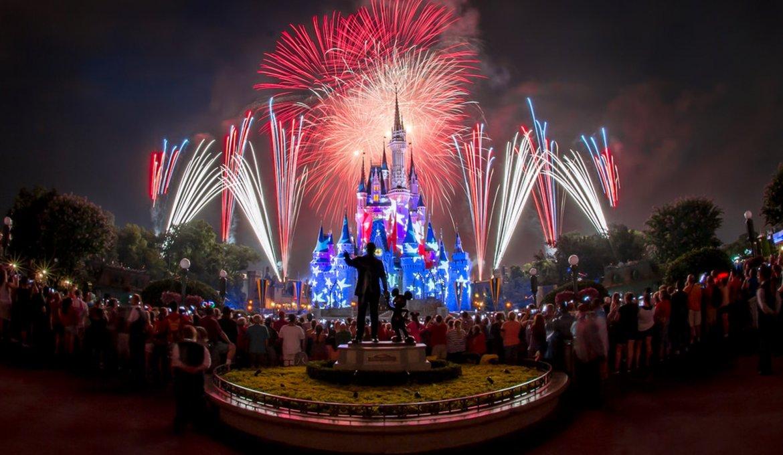 Transmissão ao vivo do show de fogos de Ano Novo da Disney Orlando