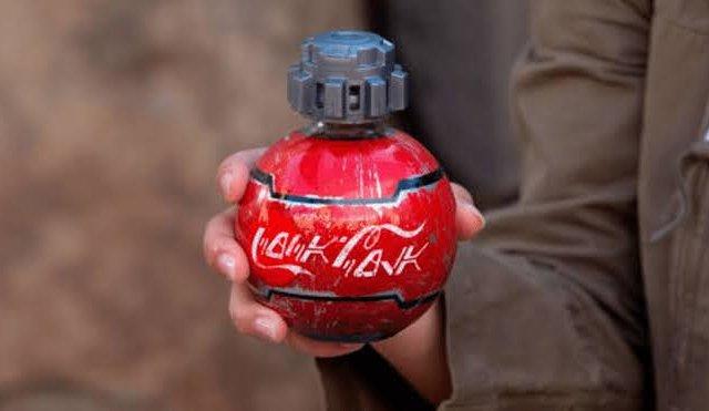 Garrafas de Star Wars da Coca-Cola vendidas na Disney