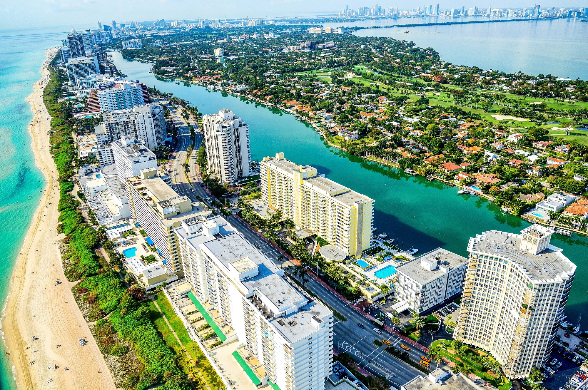 Vista aérea de Miamia