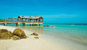 Vista da praia de Key West