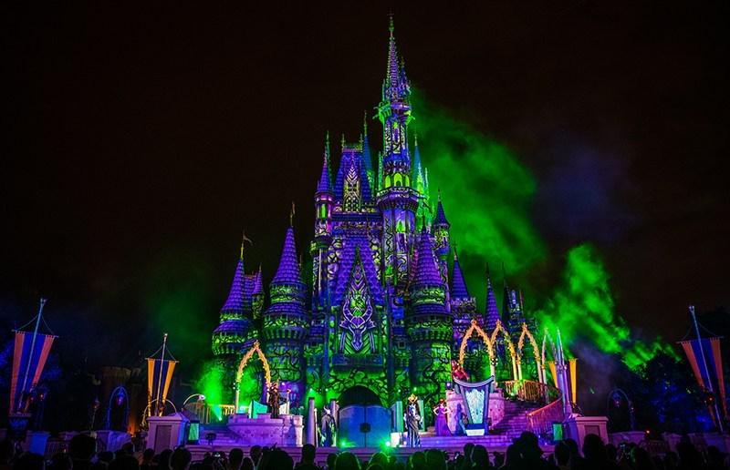 Castelo no Disney Villains After Hours em Orlando em 2020