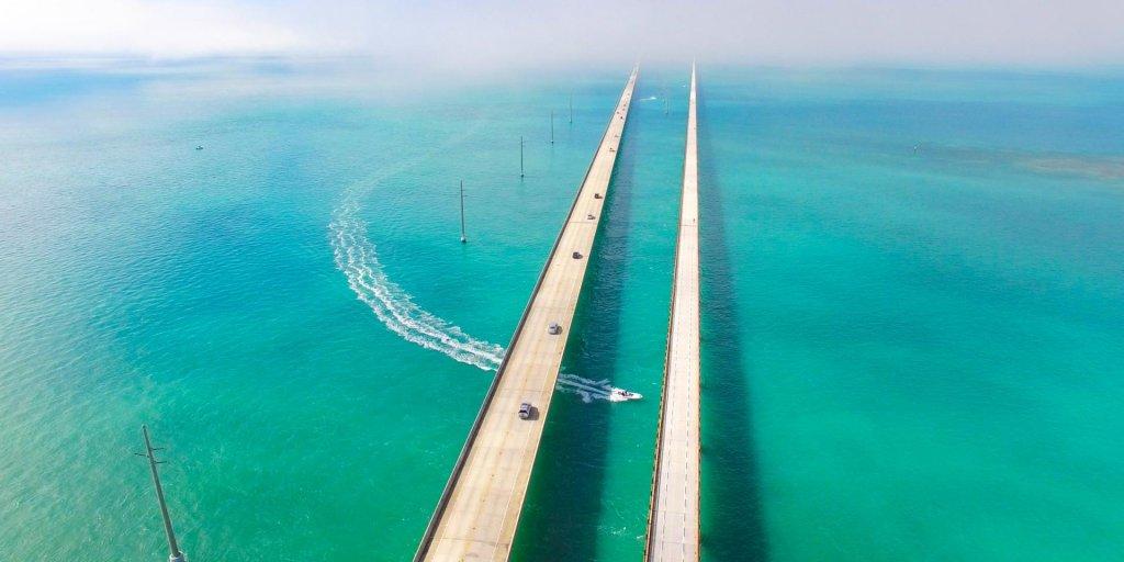 Estrada de Key West na Flórida
