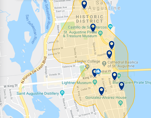 Mapa de Saint Augustine