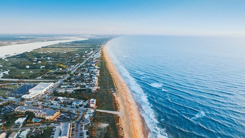 Praia em Saint Augustine